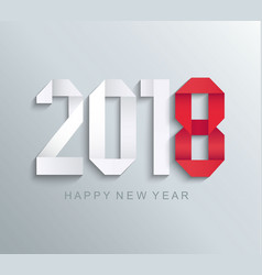 new 2018 year paper greeting card vector image vector image
