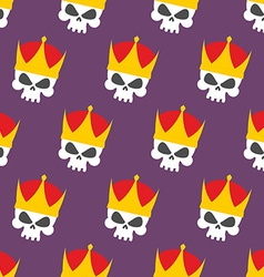 Skull Crown Seamless pattern background head vector image