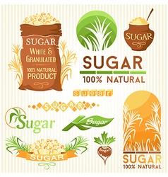 Sugar decorative elemnts vector