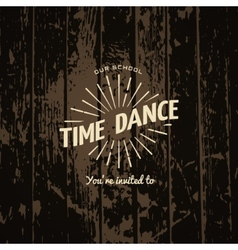 Time dance badges logos and labels for any use vector image