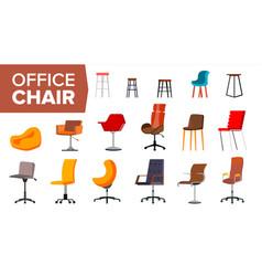 chair set office creative modern desk vector image
