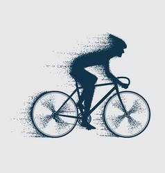 cyclist sport bicyclist vector image