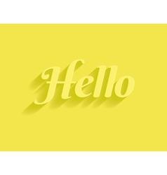 Hello message vector image vector image