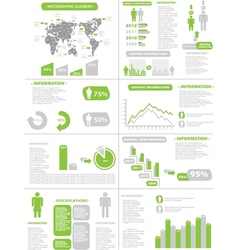 INFOGRAPHIC DEMOGRAPHICS NEW STYLE GREEN vector image