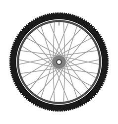 Isolated Bicycle Wheel vector image