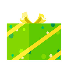 isometric present for festivals in green dotted vector image vector image