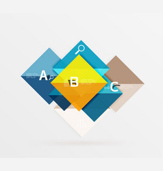square banner vector image vector image