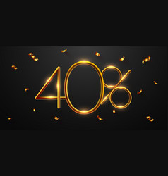 40 percent off discount creative composition vector
