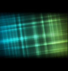 abstract bright glowing green blue stripes vector image
