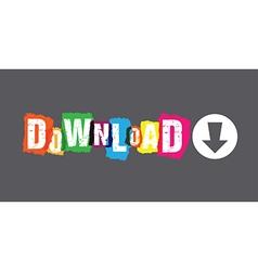 abstract download header vector image
