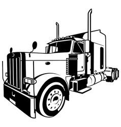 semi truck cab vector images 32 rh vectorstock com semi truck vector art semi truck vector side view