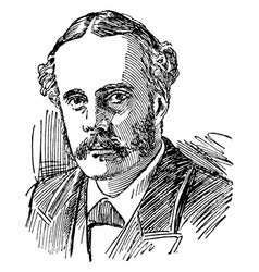 Arthur james balfour vintage vector