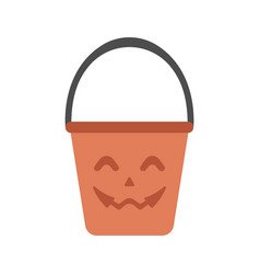 basket flat vector image