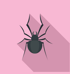 Black house spider icon flat style vector