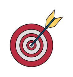 Bullseye or dartboard icon image vector