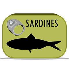 Can of sardines vector