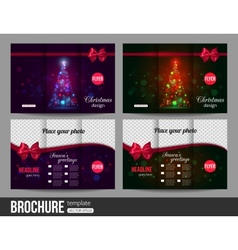 Christmas brochure templates Abstract flyer design vector