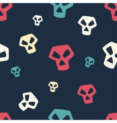 Colored Skull Pattern Small vector image