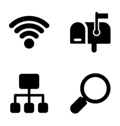 communication filled pack vector image