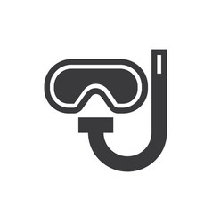 diving googles icon vector image