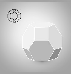 Dodecahedron is a geometric figure hipster vector