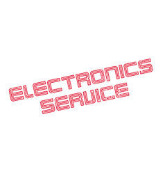 Electronics service rubber stamp vector