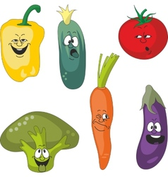 Emotion cartoon vegetables set 011 vector image