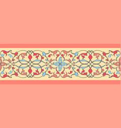 ethnic ribbon pattern vector image