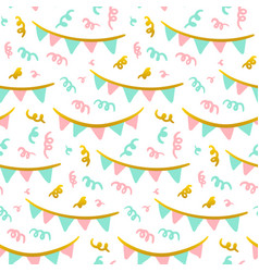 festive flags seamless pattern vector image