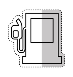 fuel station pump icon vector image