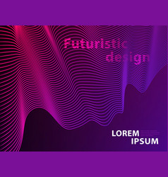 futuristic template design background modern vector image
