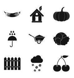 Garnish icons set simple style vector