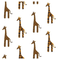 Giraffe cute seamless pattern Safari vector