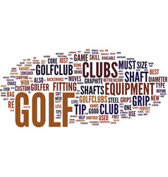 golf tip text background word cloud concept vector image