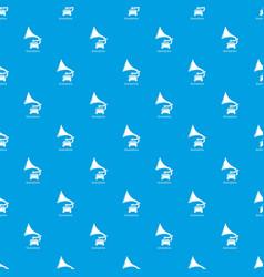 gramophone pattern seamless blue vector image