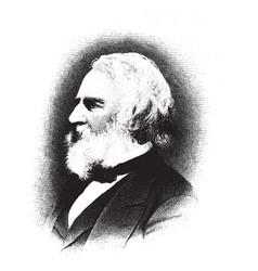 Henry wadsworth longfellow vintage vector