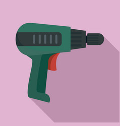 Home electric drill icon flat style vector