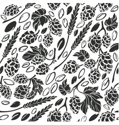 hop and seed seamless pattern vector image