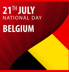 Independence day of the belgium flag and vector