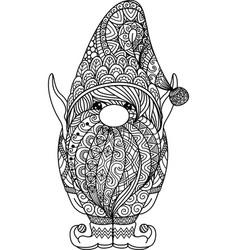 Coloring Book Gnome Vector Images Over 100