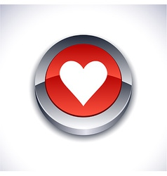 Love 3d button vector