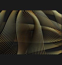 Luxury golden waves wallpaper art deco pattern vector