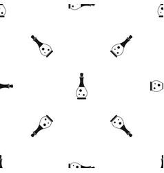 Massage oil pattern seamless black vector