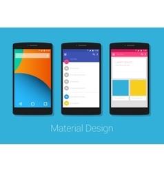material design phone lolipop vector image