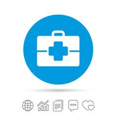 medical case sign icon doctor symbol vector image