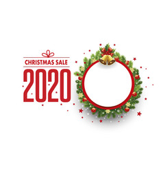 merry christmas sale banner with place for text vector image