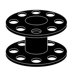 Metal reel for threadssewing or tailoring tools vector