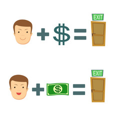 Money helps to find a exit vector