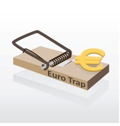Mousetrap with euro money vector image