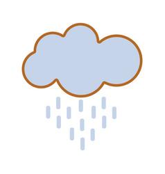 Nice cloud raining image vector